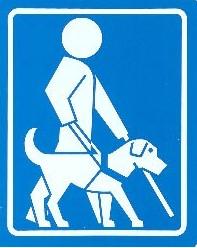 Logo canne blanche et chien guide d'aveugle