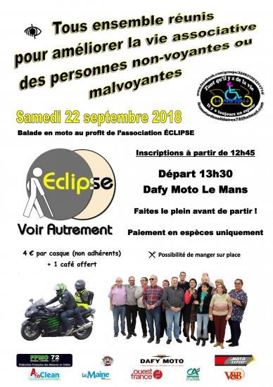 Rassemblement motos au profit de l association eclipse